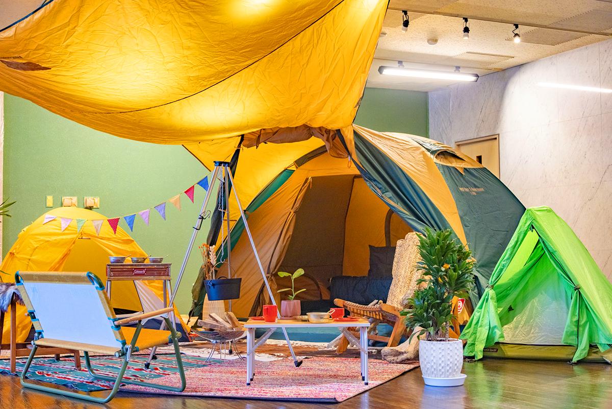 キャンプテントの写真